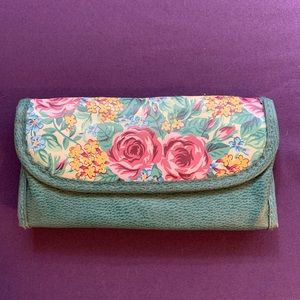 Vintage Floral Double Sided Wallet/Eyeglass Case